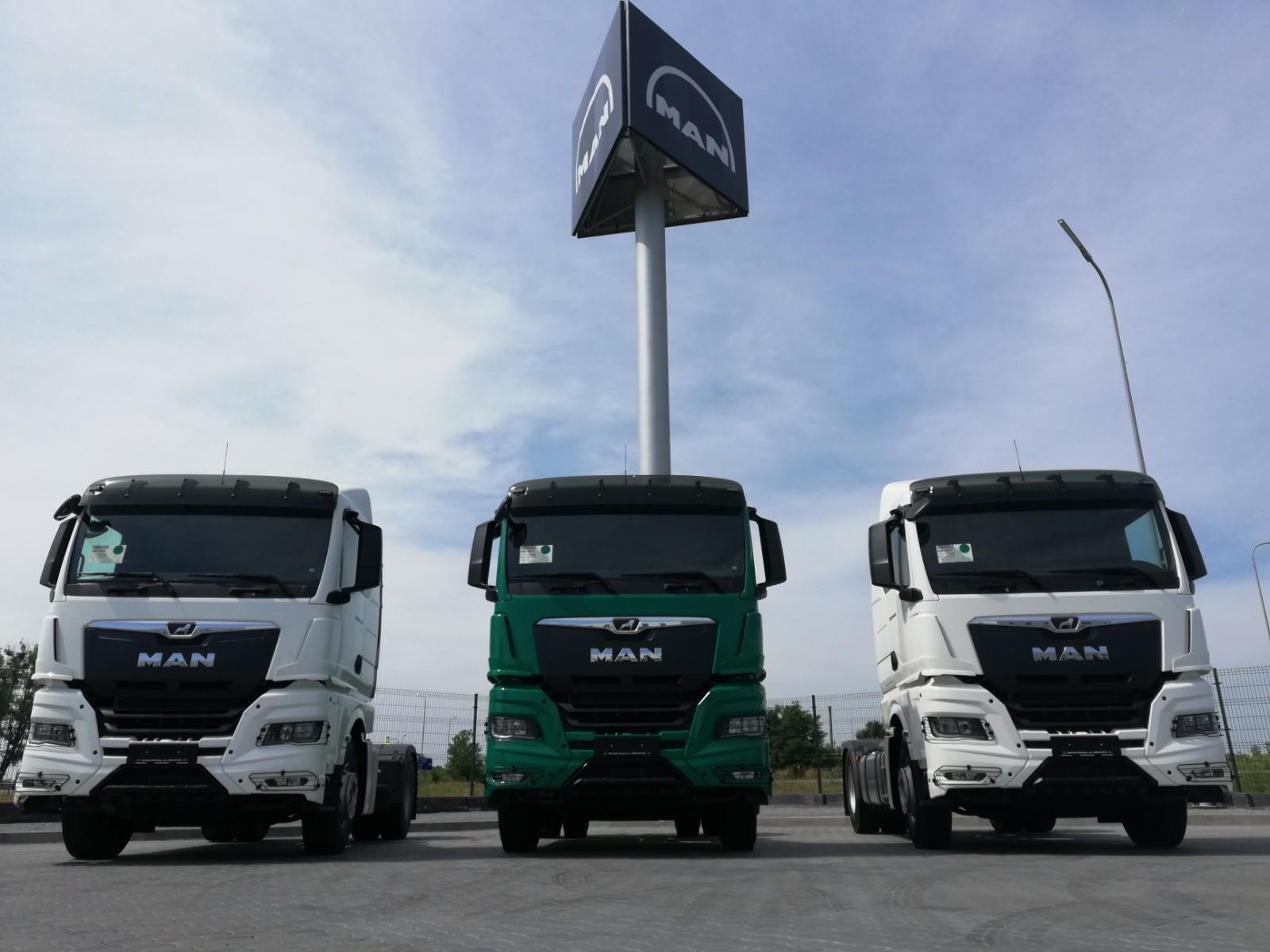 Поставка новой техники MAN — трех тягачей MAN TGX 18.440 4×2 нового поколения TG3